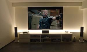 Realizzazione sala home cinema con schermo biformat
