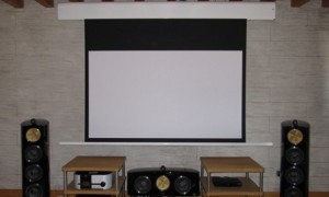 Home Cinema in open space at home