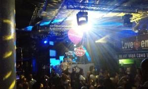Led wall in discoteca